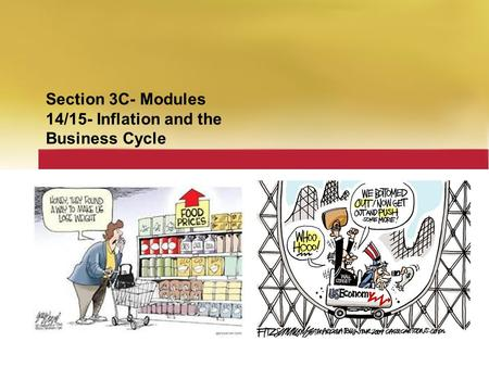 Section 3C- Modules 14/15- Inflation and the Business Cycle.