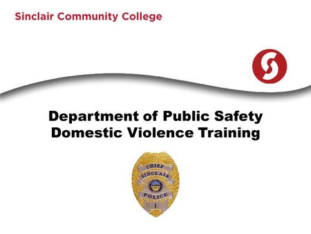 Department of Public Safety Domestic Violence Training.