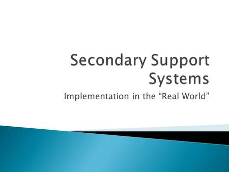 "Implementation in the ""Real World"". Edie Banks, LCSWSarah Gafford, LCSW."