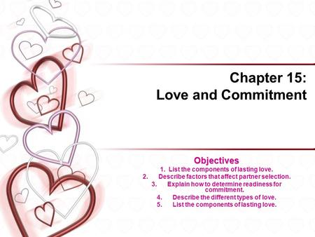 Chapter 15: Love and Commitment