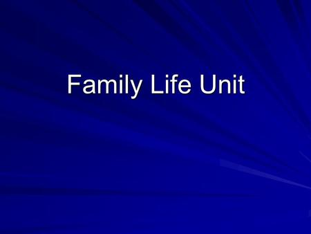 Family Life Unit. Welcome and introduction About us What Southwest Middle's curriculum covers and what we do not cover….. Topics.