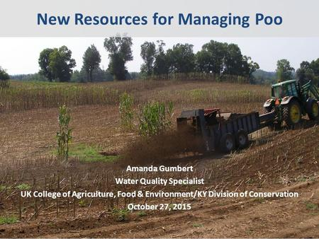 New Resources for Managing Poo