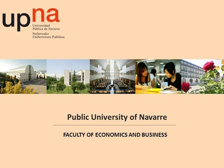 Public University of Navarre FACULTY OF ECONOMICS AND BUSINESS.
