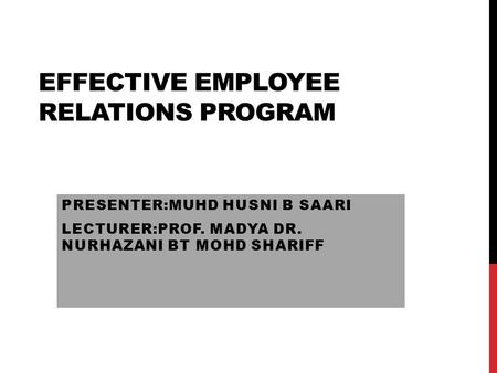customer and employee relationship program
