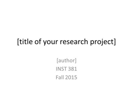 author research project Committees will review a publication record when considering tenure, funding for new research projects, and awards c authors have a responsibility to publish.
