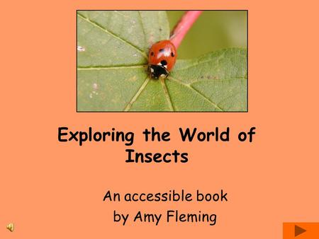 Exploring the World of Insects An accessible book by Amy Fleming.