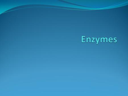 Enzymes  Enzymes are protein catalysts that increase the rate of chemical reactions by providing an alternative pathway for the reaction.  This pathway.