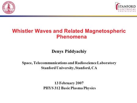 Whistler Waves and Related Magnetospheric Phenomena