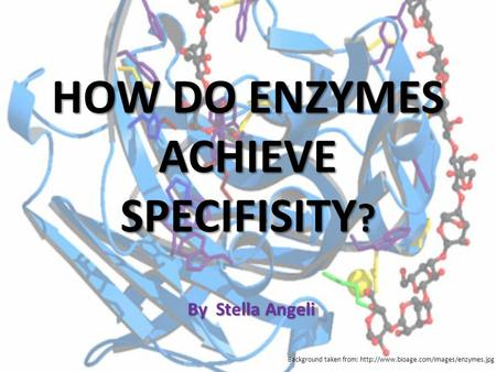 HOW DO ENZYMES ACHIEVE SPECIFISITY?
