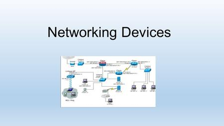 Networking Devices.