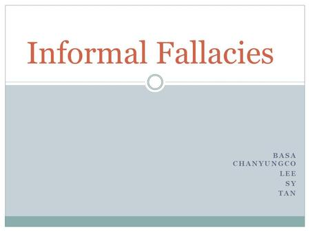 how to avoid informal fallacy The ad hominem fallacy  we dive into the ad hominem fallacy and show you how to avoid it  formal and informal fallacies - duration:.
