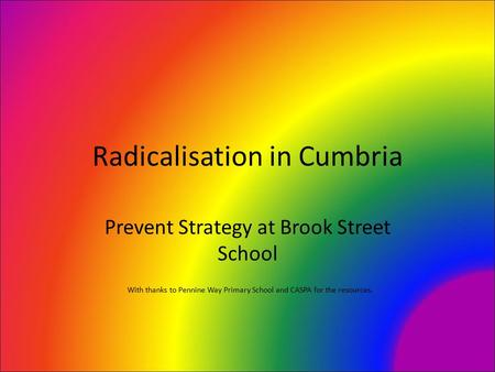 Radicalisation in Cumbria