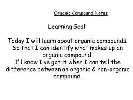 Worksheets Naming Arganic Compound Worksheet And Answer elements in organic compounds from yesterday what is an compound notes learning goal today i will learn about so that