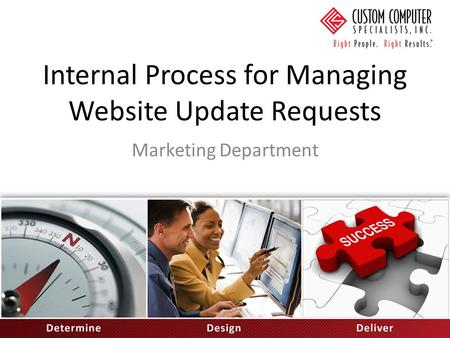 Internal Process for Managing Website Update Requests Marketing Department.