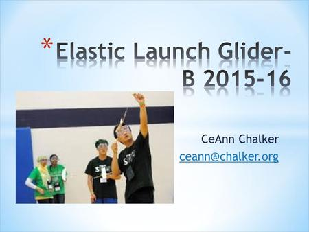 Elastic Launch Glider- B