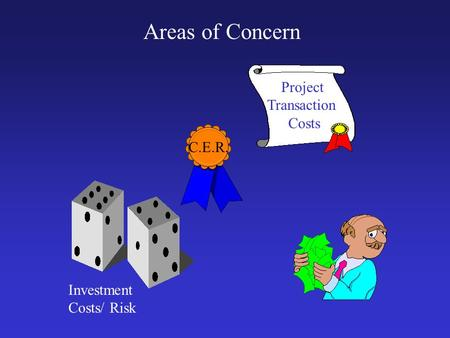 Project Transaction Costs Investment Costs/ Risk Areas of Concern C.E.R.