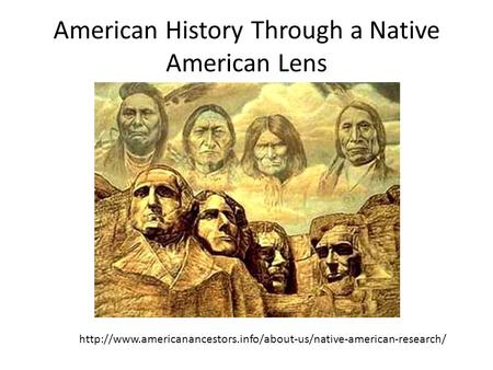 American History Through a Native American Lens