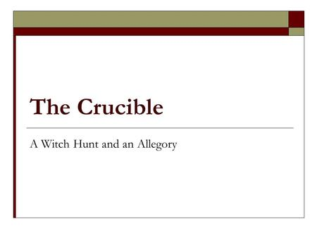 essay on the salem witch trials and mccarthyism Mccarthyism and salem witch hunt this essay mccarthyism and salem witch hunt and other 63,000+ term papers, college essay examples and free essays are available now.