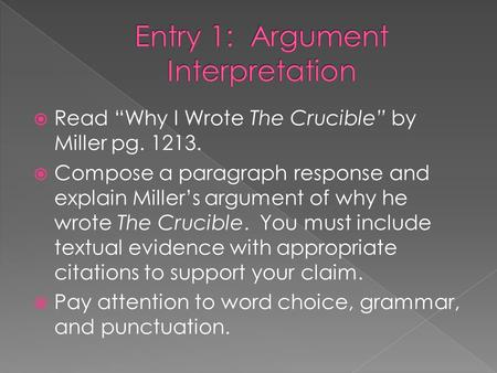 the final scene from the crucible essay A final project idea for the crucible i used it with graders and with an honors grade class the crucible higher english key scene essay.
