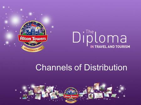 Channels of Distribution. Not all tickets are sold at the gates of Alton Towers. Channels of distribution describes the ways in which a product reaches.