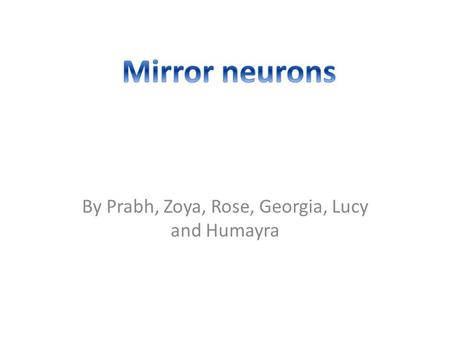 By Prabh, Zoya, Rose, Georgia, Lucy and Humayra.  neuron+system&docid=4599596995707135&mi d=8D04BBC9F9C0FAD6037C8D04BBC9F9C0FAD.