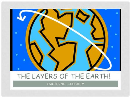 EARTH UNIT- LESSON 9 THE LAYERS OF THE EARTH!. OBJECTIVES Students will have an understanding of the layers of the earth.