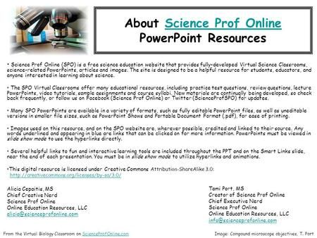 About Science Prof OnlineScience Prof Online <strong>PowerPoint</strong> Resources Science Prof Online (SPO) is a free science education website that provides fully-developed.