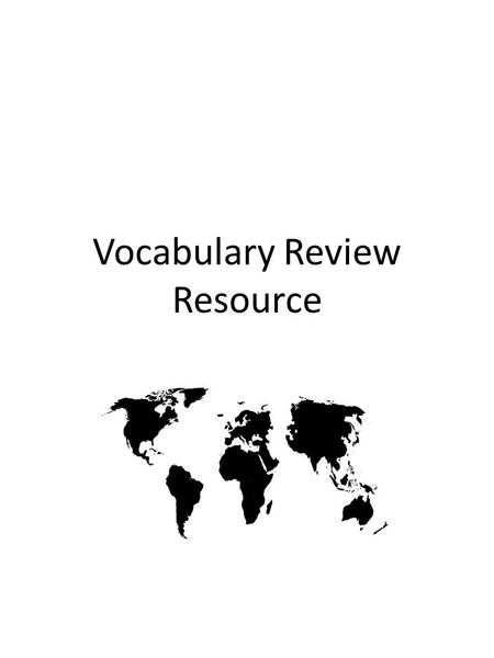Vocabulary Review Resource. Study Buddy Cards This page is where your study buddy cards will be placed. Study buddy cards are for you and a friend or.
