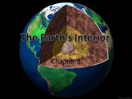 Chapter 8. Earth's Core Lithosphere Lithosphere- solid outer crust of Earth – Rock and hot plastic-like upper mantle Three major parts or layers: – Earth's.