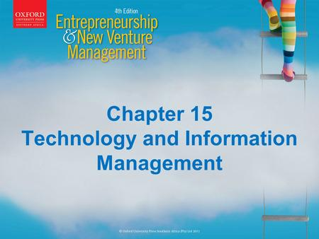 Chapter 15 Technology and Information Management.