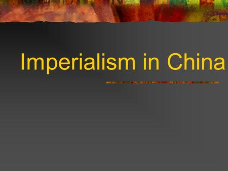 Imperialism in China. I. European trade increases I. British take the lead A. China (Qing Dynasty) begins a period of declining power while west increases.