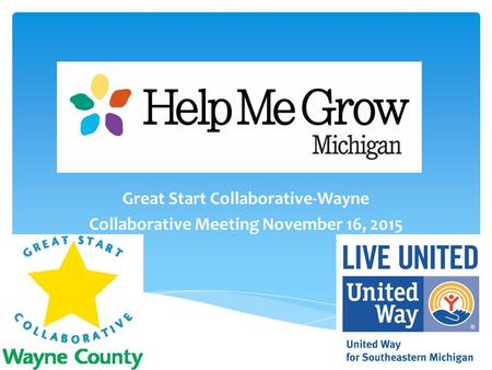 Great Start Collaborative-Wayne Collaborative Meeting November 16, 2015.
