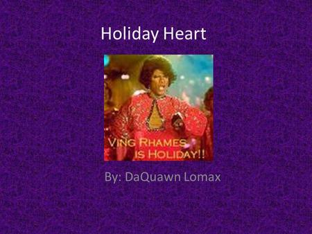 Holiday Heart By: DaQuawn Lomax The Oscars, awarded annually by the Academy of Motion Picture Arts and Sciences, Showcase the best in Movies, honoring.