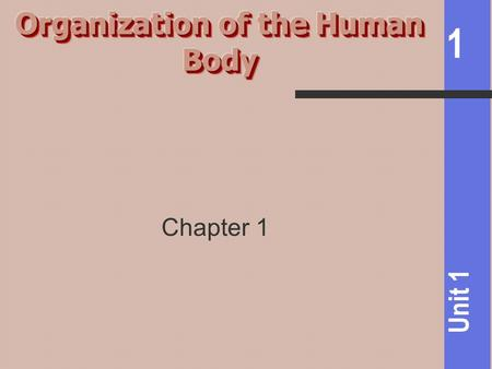 1 Unit 1 Chapter 1. 1 Unit 1 Anatomy: Science of Structure Physiology: Science of body functions.