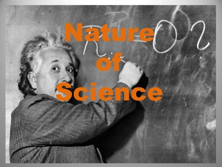 Nature of Science. Part I: Measuring using the International System of Units. Otherwise known as the Metric System.