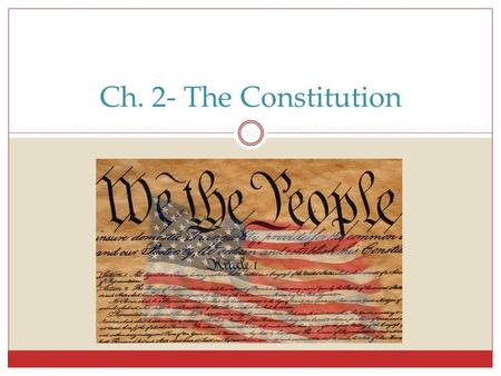 Ch. 2- The Constitution. What is Government? Government- institution by which a society makes & enforces its public policy Public Policy- actions the.