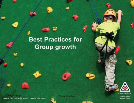 Slide Number1 Best Practices for Group growth 20/11/2015.
