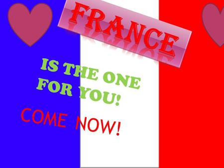 IS THE ONE FOR YOU! COME NOW! Do you want to have the time of your life? Well here is your opportunity. DO NOT MISS OUT ! Guess what? France is famous.
