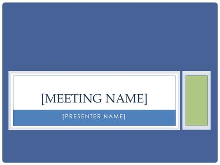[PRESENTER NAME] [MEETING NAME]. STRATEGY 1 Act collectively to raise awareness and take joint ownership of solutions.