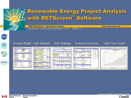 Renewable Energy Project Analysis Course - Module 1
