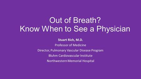 Out of Breath? Know When to See a Physician