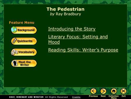 The pedestrian by ray bradbury essay