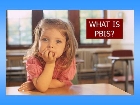 "WHAT IS PBIS?. Starting Point…. We cannot ""make"" students learn or behave We can create environments to increase the likelihood students learn and behave."