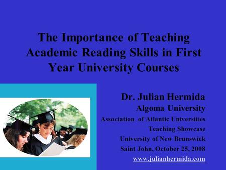 Dr. Julian Hermida Algoma University