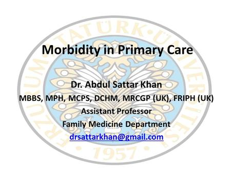 Morbidity in Primary Care