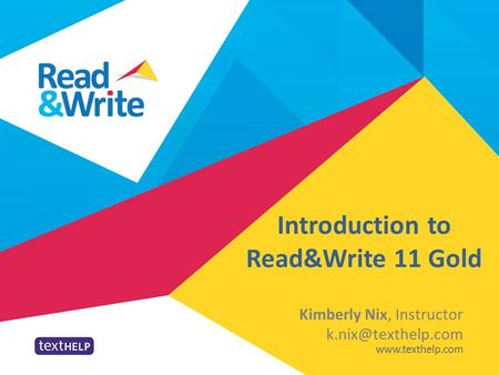 Introduction to Read&Write 11 Gold