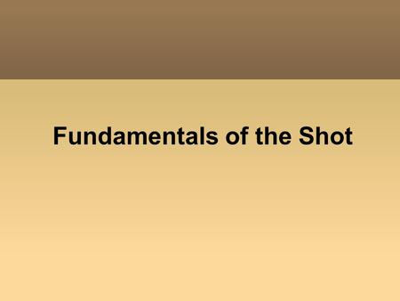 Fundamentals of the Shot. What is a Scene? A combination of shots that shows the action that takes place in one location or setting.