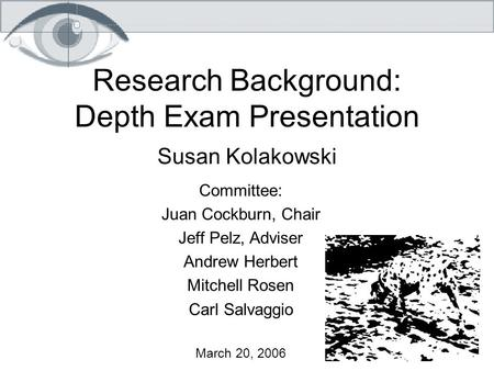 Research Background: Depth Exam Presentation