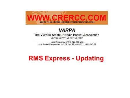 RMS Express - Updating. RMS Express update Start - Windows Explorer navigate to C:\RMS Express folder and locate the RMS Express.ini file and open it.
