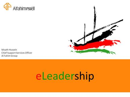 ELeadership Moath Hussein Chief Support Services Officer Al Fahim Group.